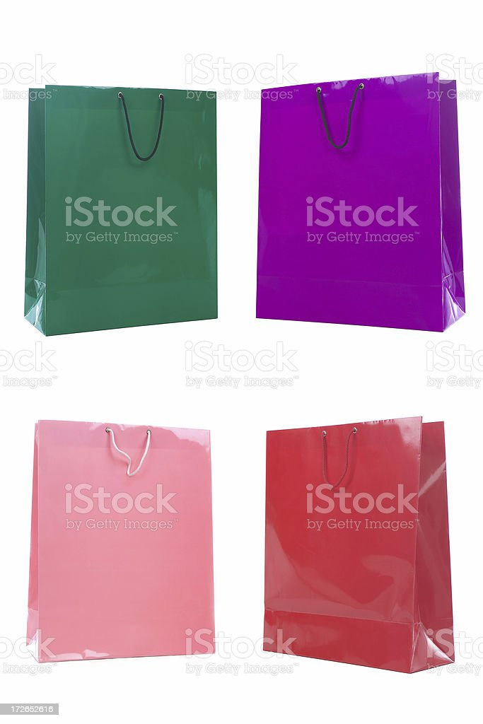 Four shopping bags royalty-free stock photo
