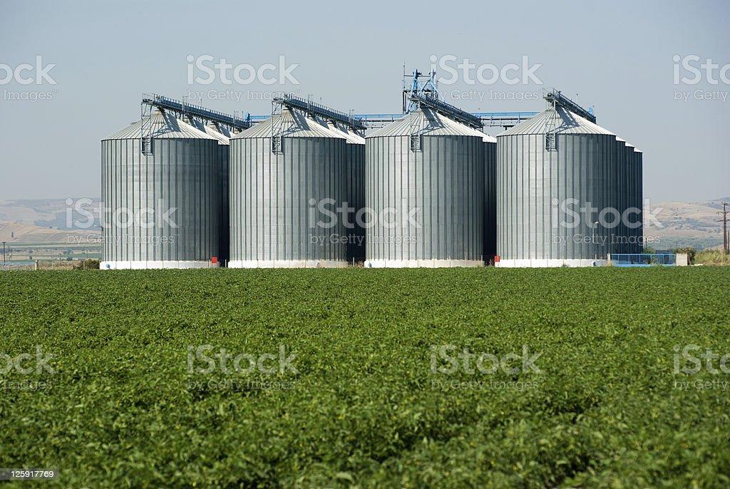 four Silos stock photo