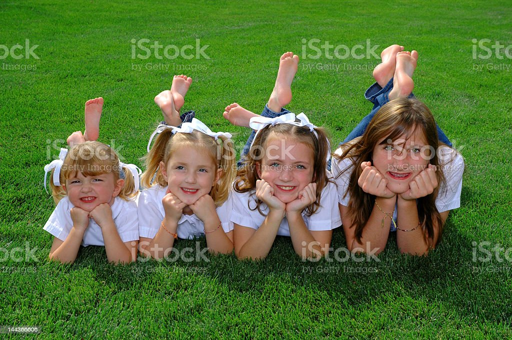 Four Sisters royalty-free stock photo