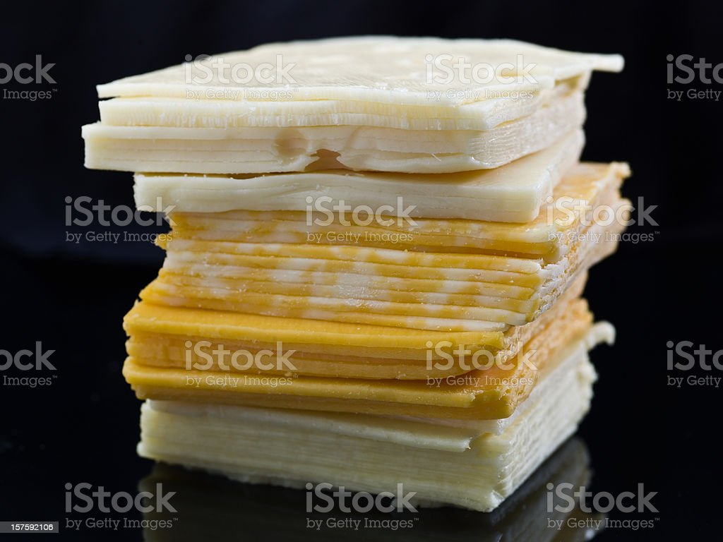 Four sliced cheeses royalty-free stock photo
