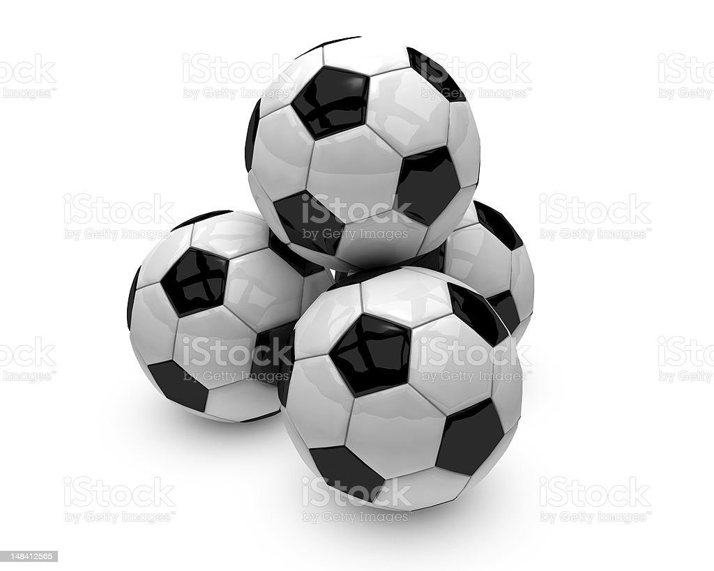 Four Soccer Balls royalty-free stock photo
