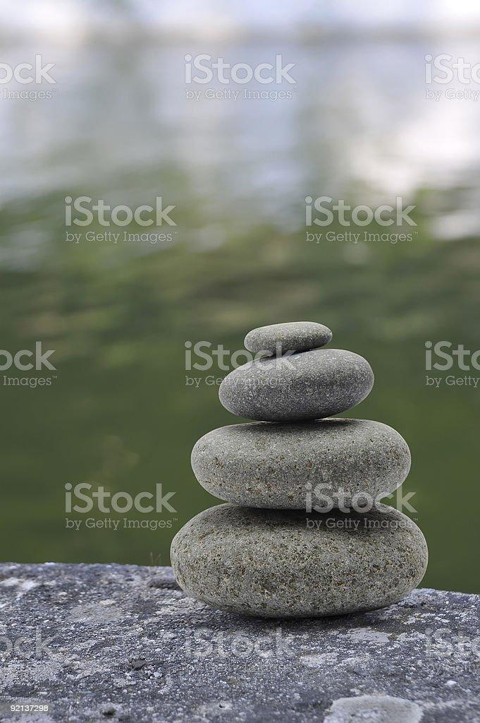 four sorted stone stock photo