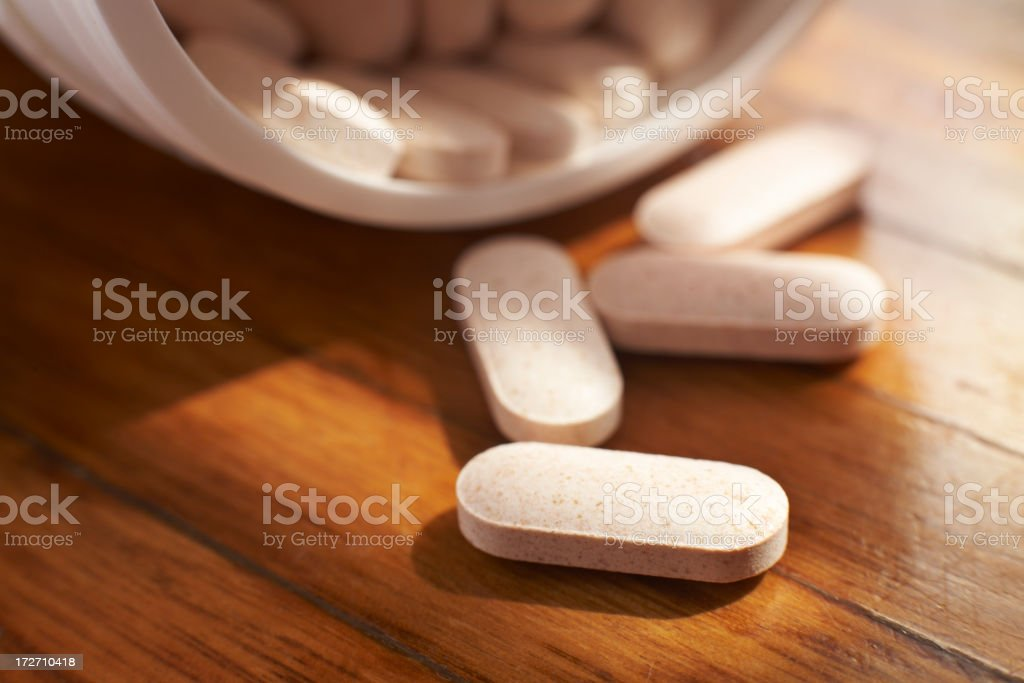 Four spilled tablets royalty-free stock photo
