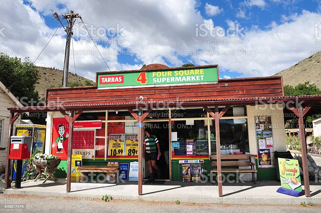 Four Square supermarkets - New Zealand stock photo