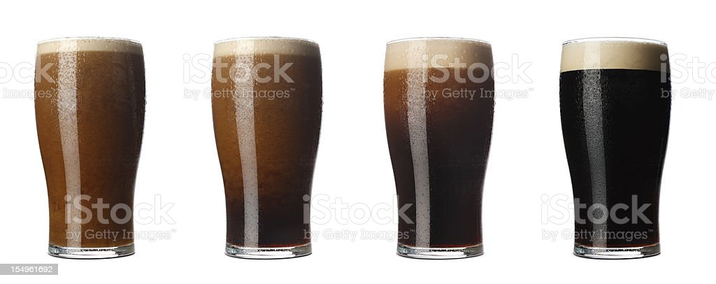 Four stages  of Stout stock photo