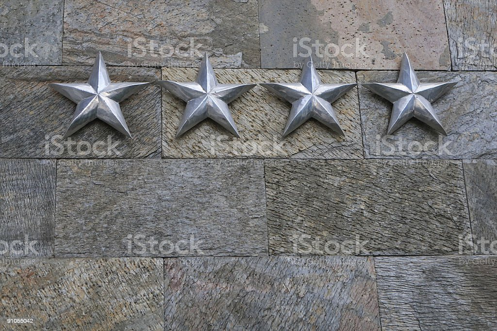 Four star hotel stock photo