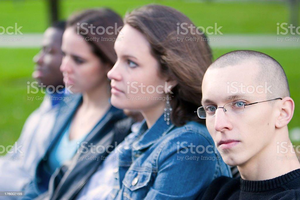 Four students stock photo