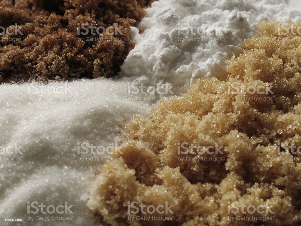 Four Sugars royalty-free stock photo
