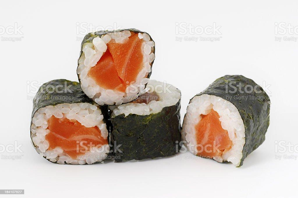 four sushi pieces royalty-free stock photo