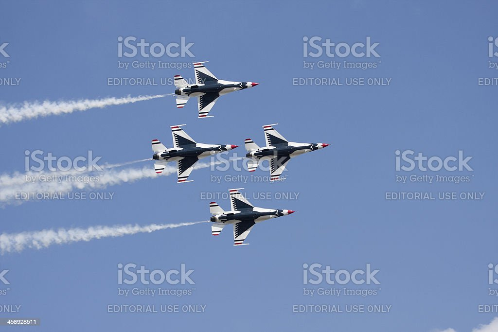 Four Thunderbirds in Formation royalty-free stock photo