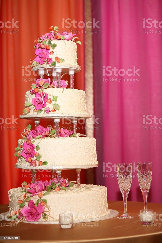 Four Tier Cake royalty-free stock photo