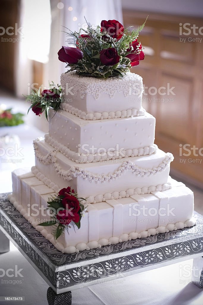 four tier wedding cake royalty-free stock photo