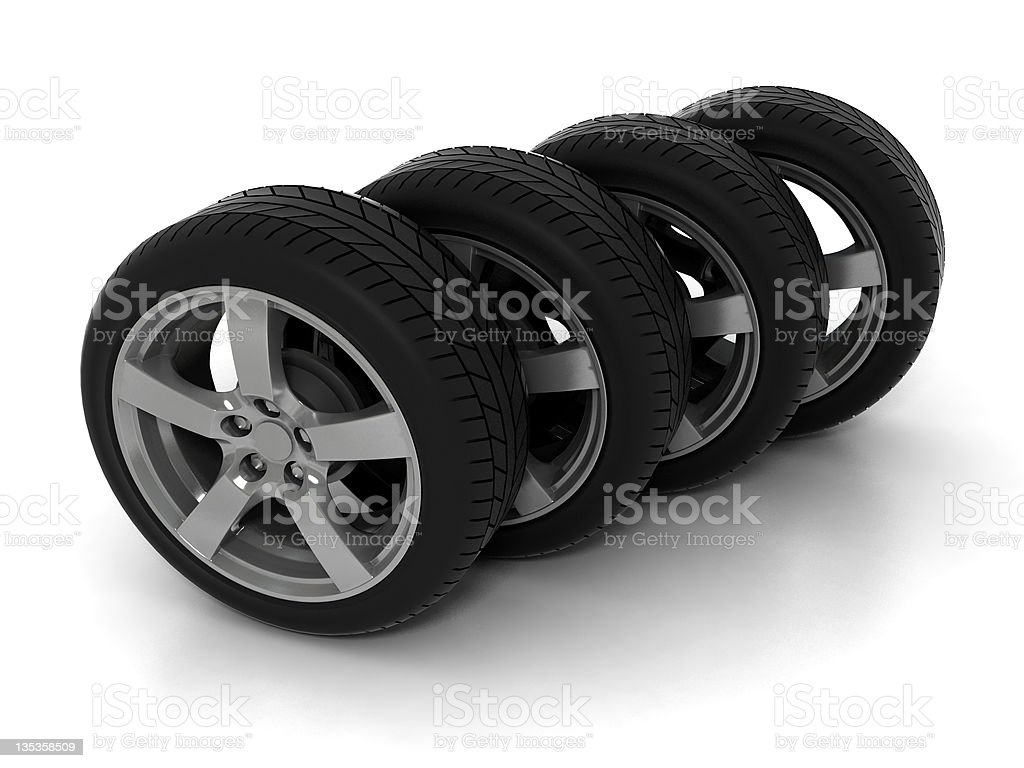 Four Tires royalty-free stock photo