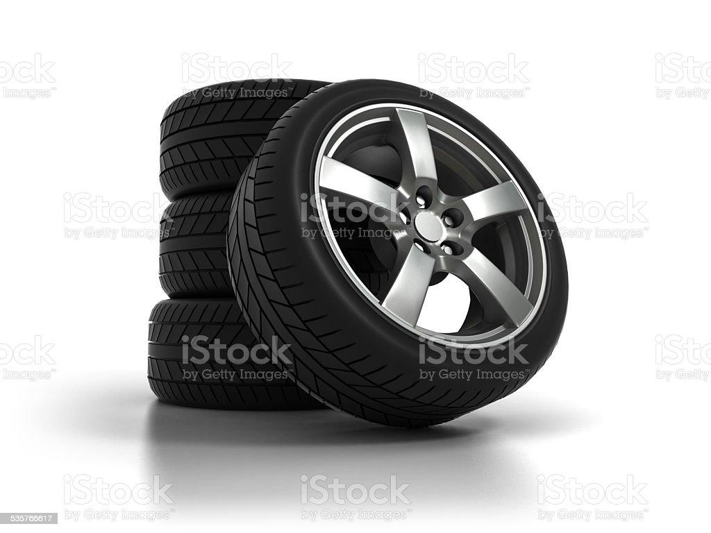 Four Tires stock photo