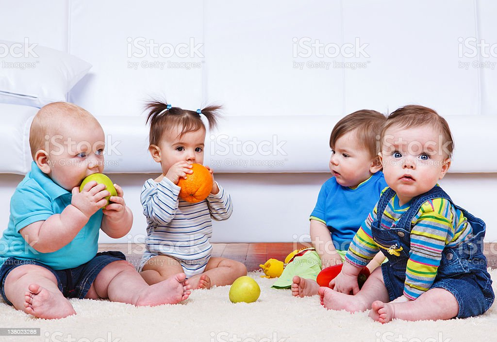 Four toddlers royalty-free stock photo