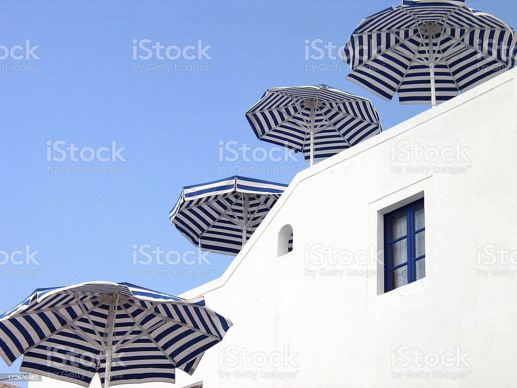 Four Umbrellas royalty-free stock photo