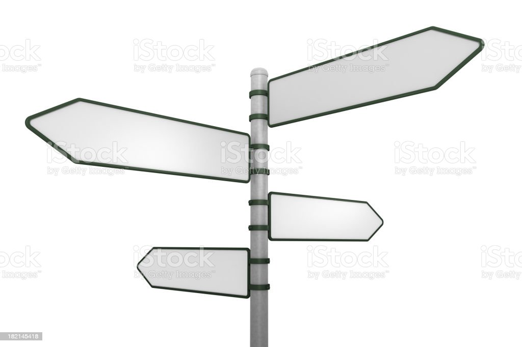 Four way sign post royalty-free stock photo