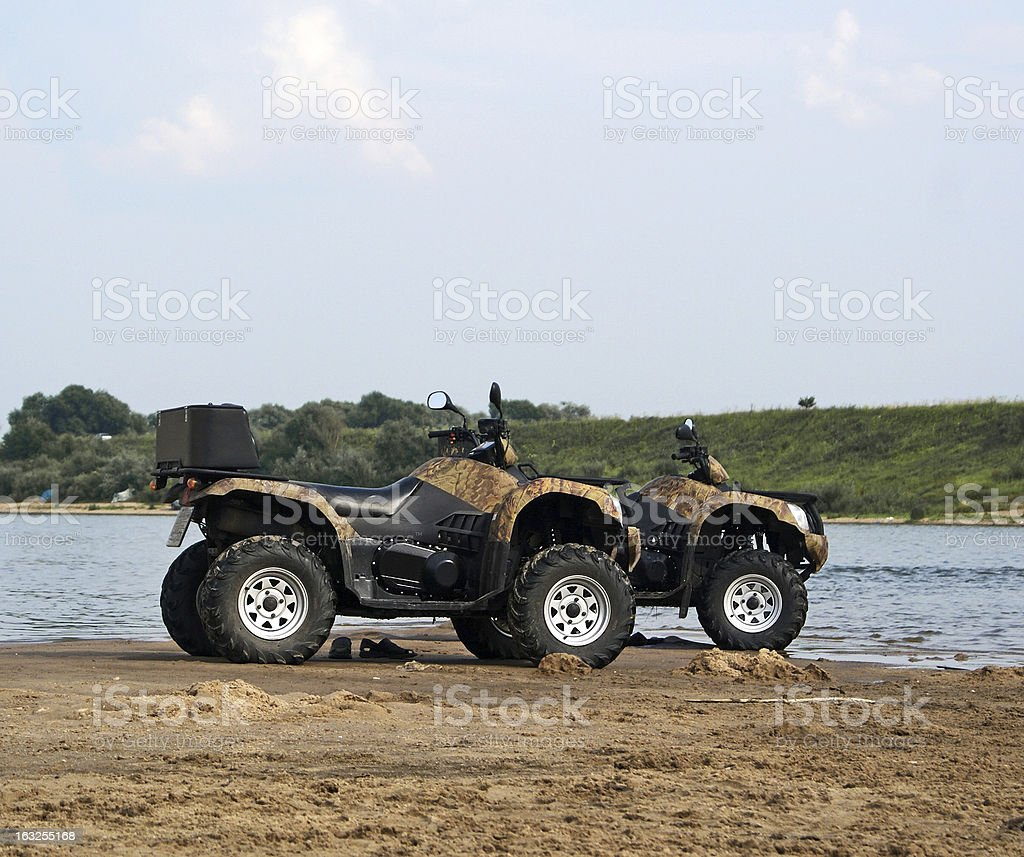 Four wheel drive stock photo