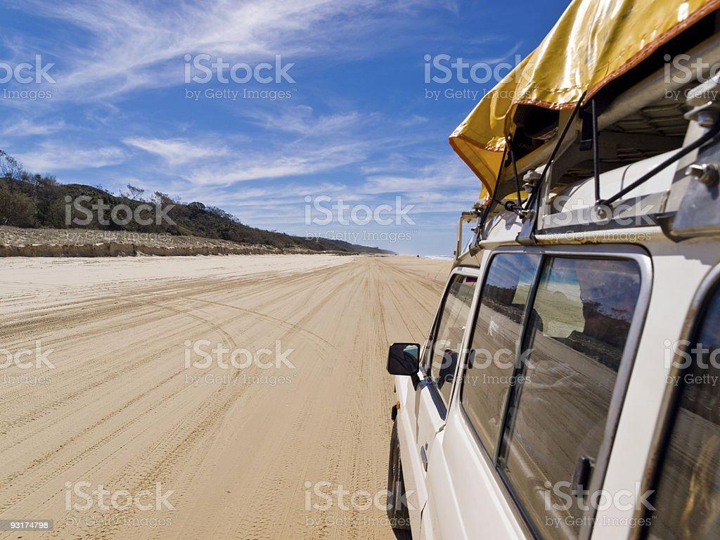 Four Wheel Driving on Fraser stock photo