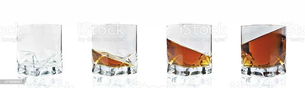 four whiskey glasses royalty-free stock photo