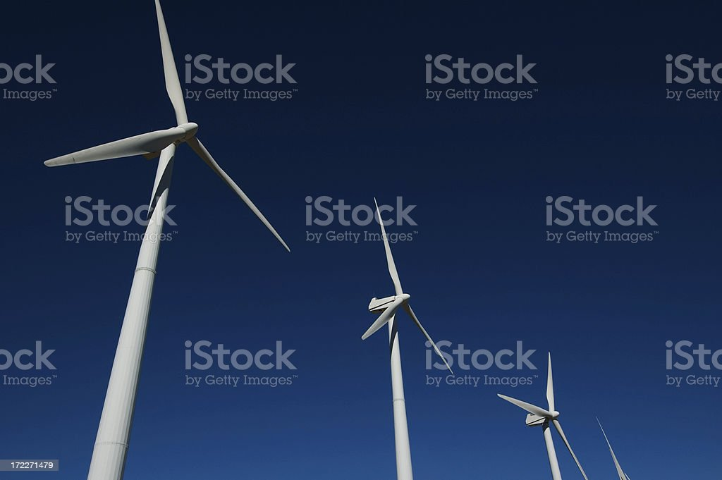 Four windmills royalty-free stock photo