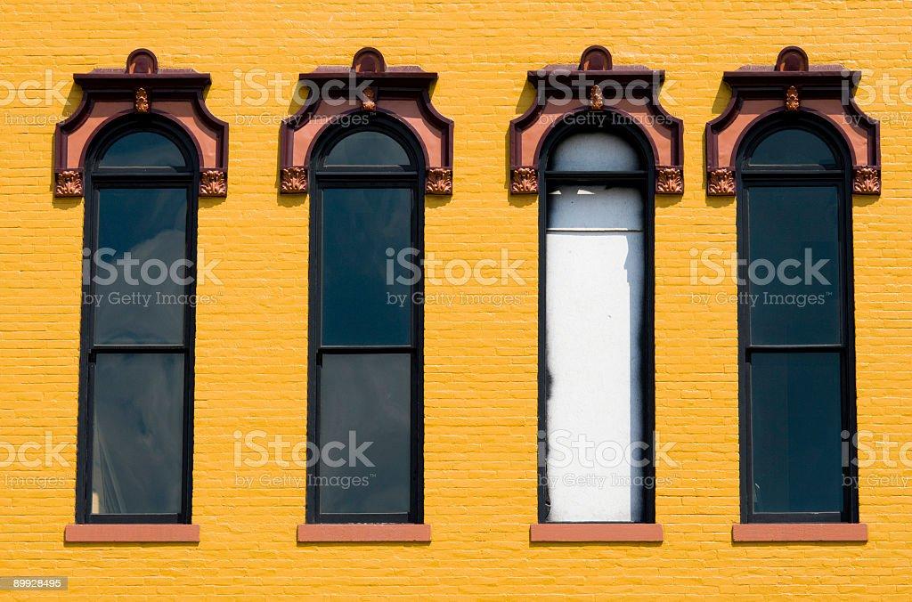 Four windows royalty-free stock photo