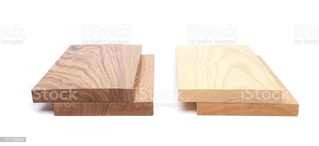 Four wooden plank close-up royalty-free stock photo
