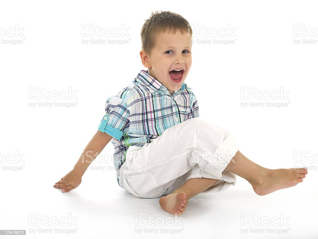 Four Year Old Child Laughing stock photo