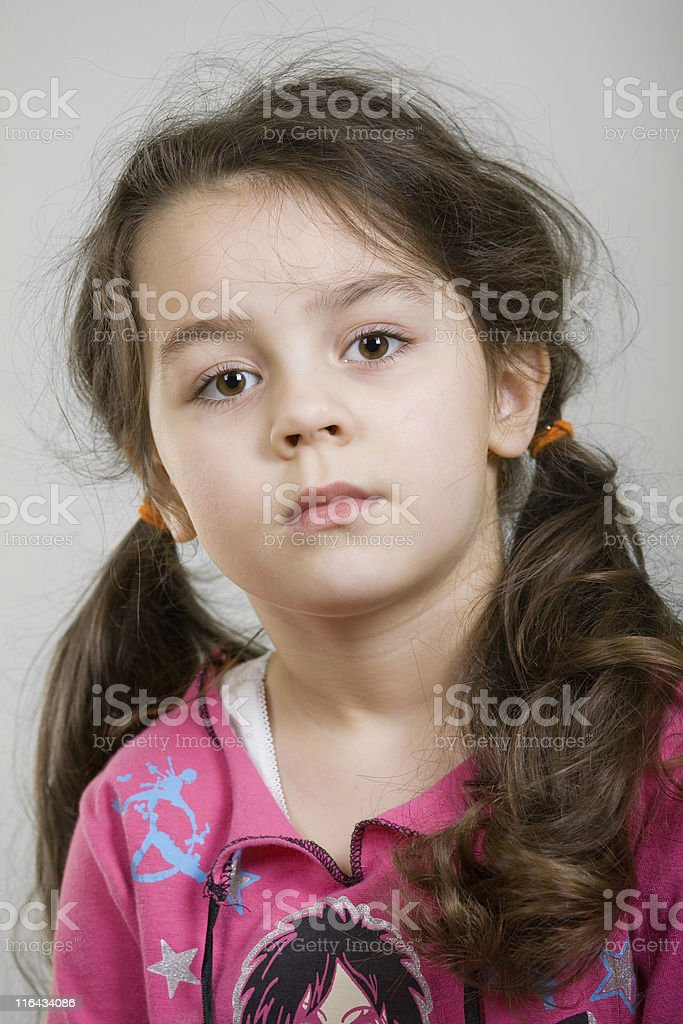 Four years old adorable caucasian girl. royalty-free stock photo