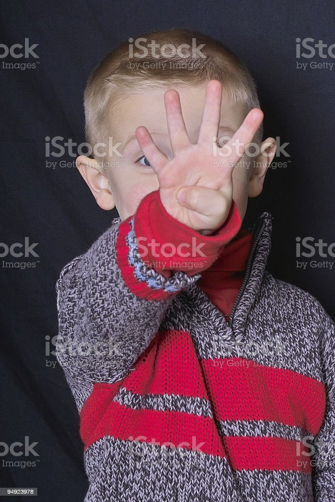 Four Years Old! royalty-free stock photo