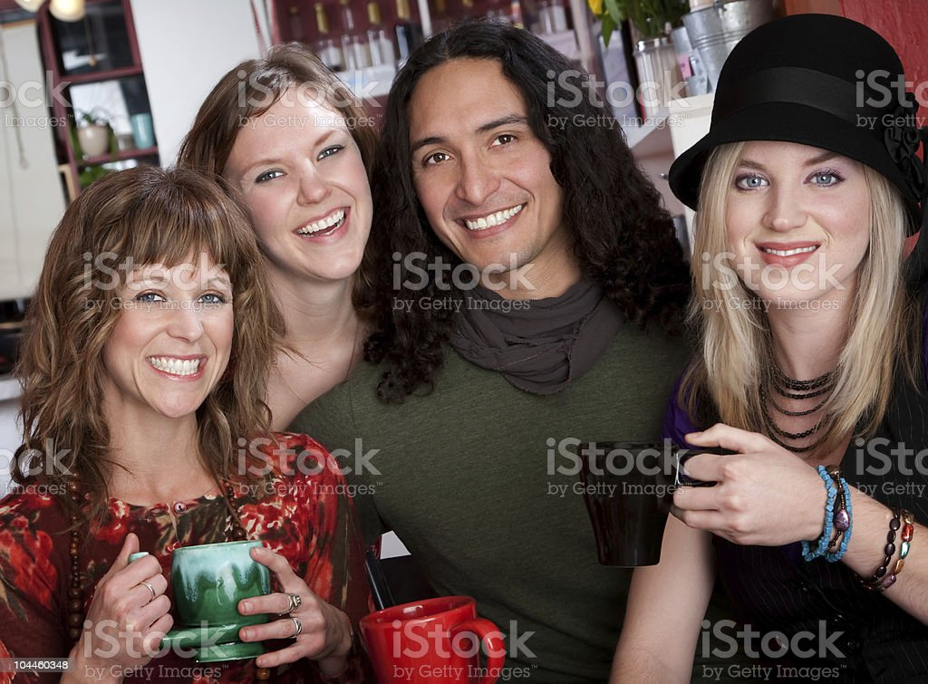 Four young friends royalty-free stock photo