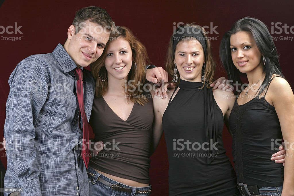 Four young people royalty-free stock photo