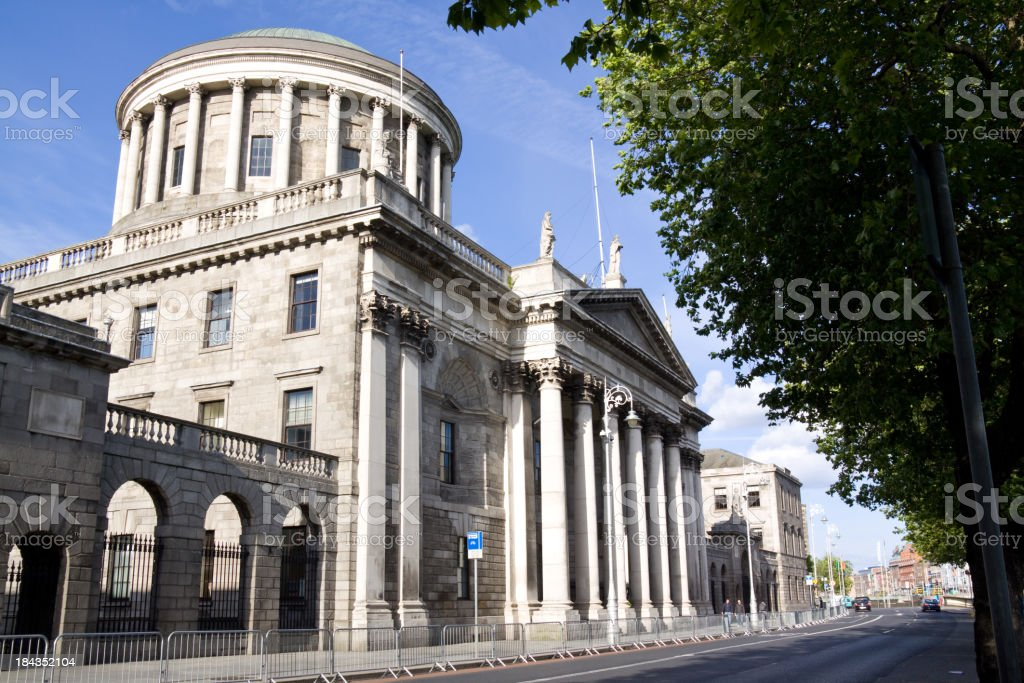 FourCourts Building in Dublin stock photo