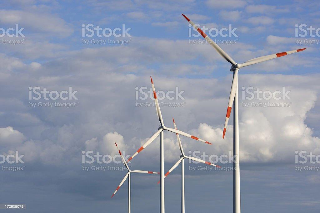 Fourfold Wind Power royalty-free stock photo