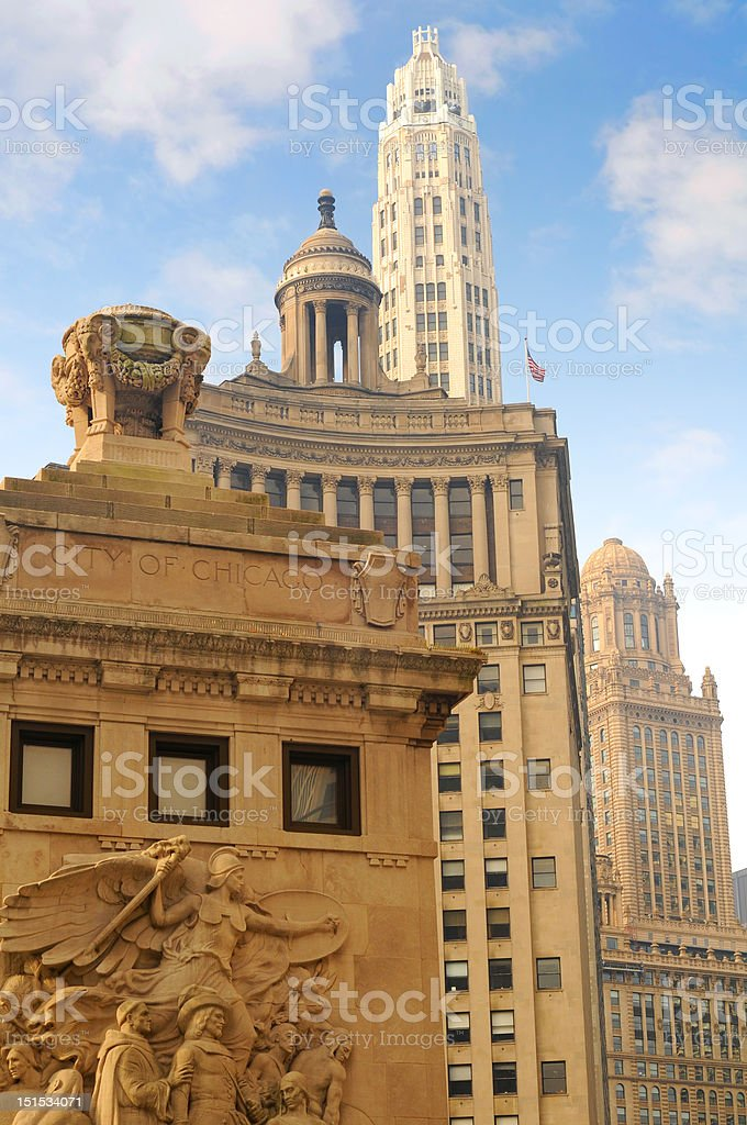 Four-layered architecture stock photo