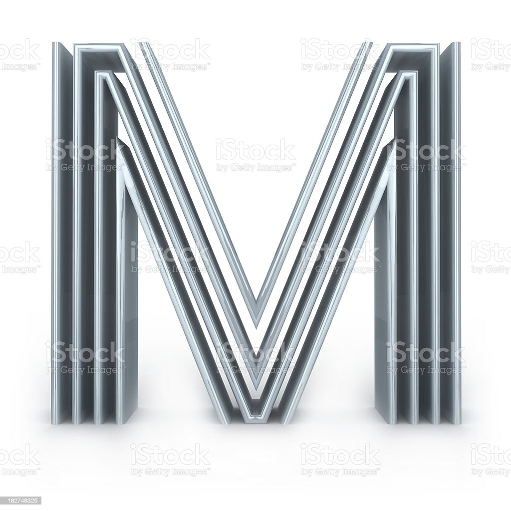 Four-striped alphabet royalty-free stock photo