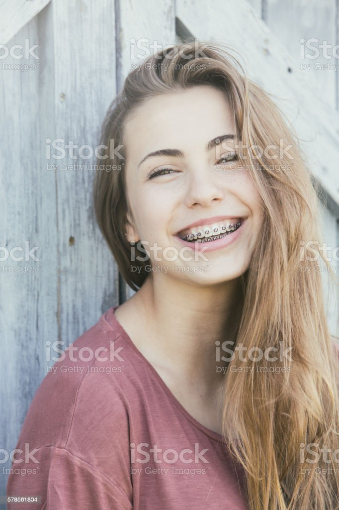 Fourteen Year Old Lifestyl Portrait stock photo