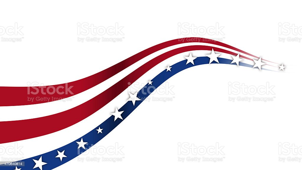 Fourth of July Background, USA themed composite stock photo