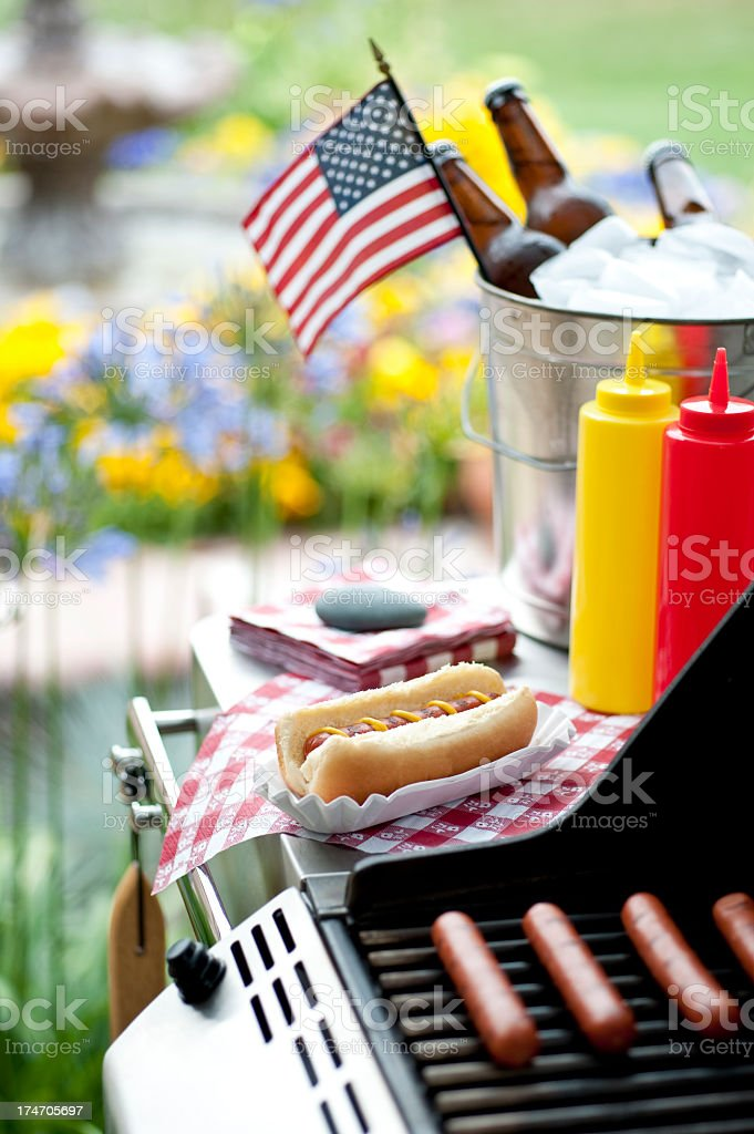 Fourth of July Barbecue royalty-free stock photo
