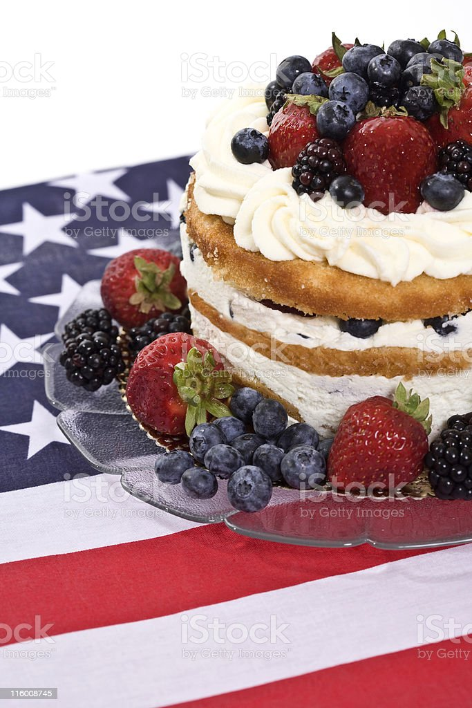 Fourth of July Dessert royalty-free stock photo
