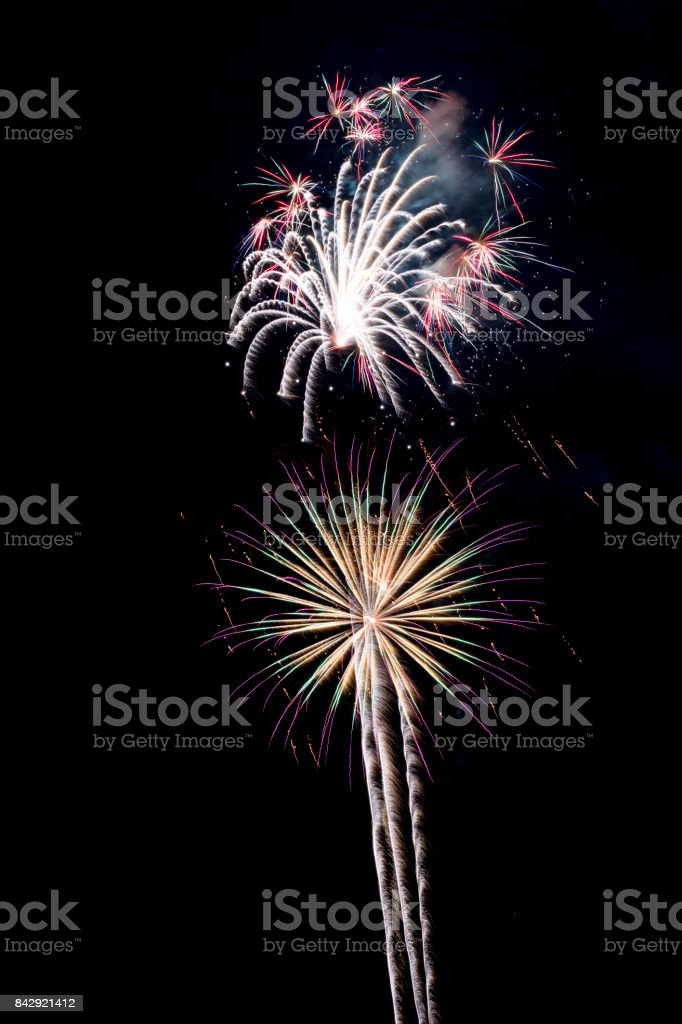 Fourth of July Fireworks stock photo