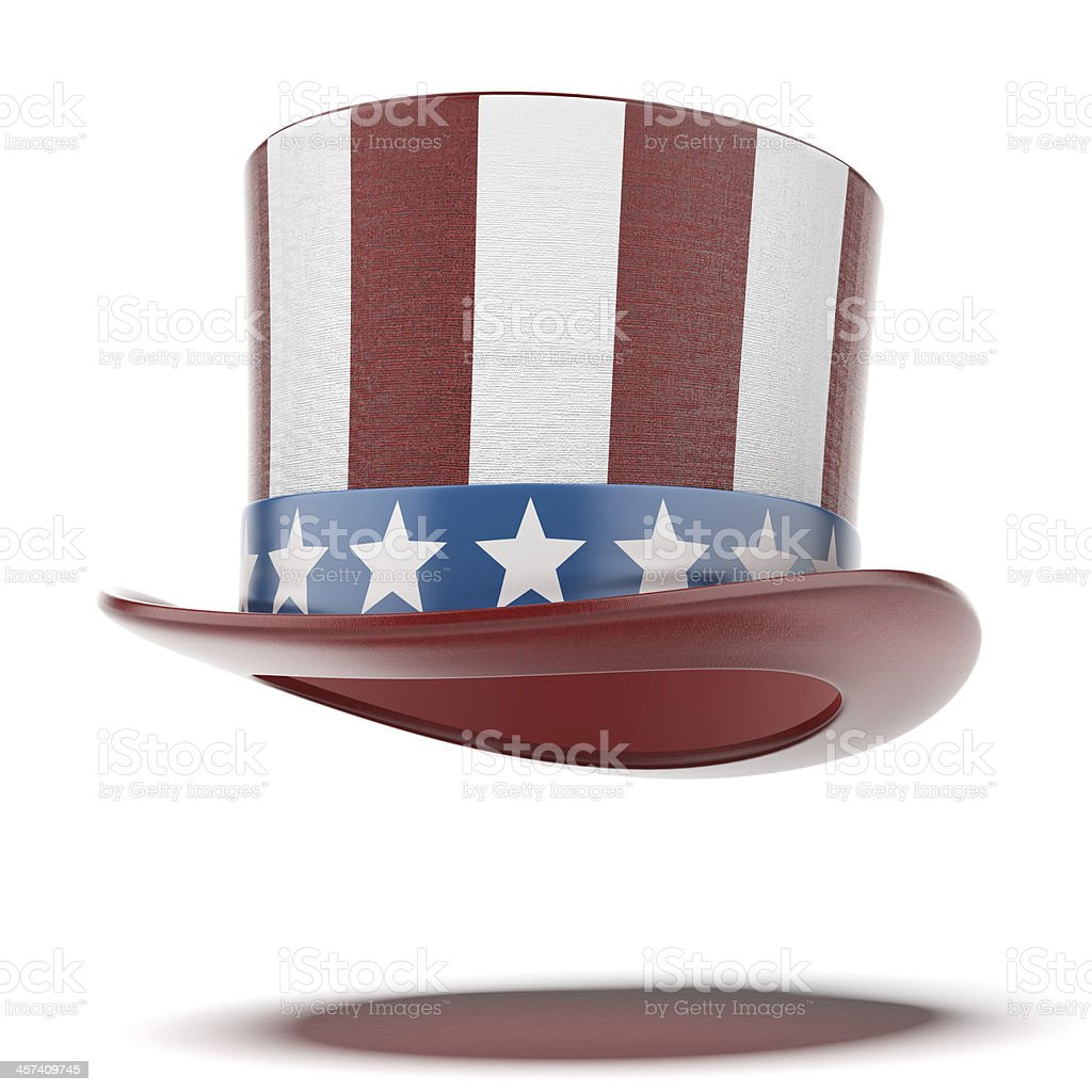 fourth of July hat stock photo