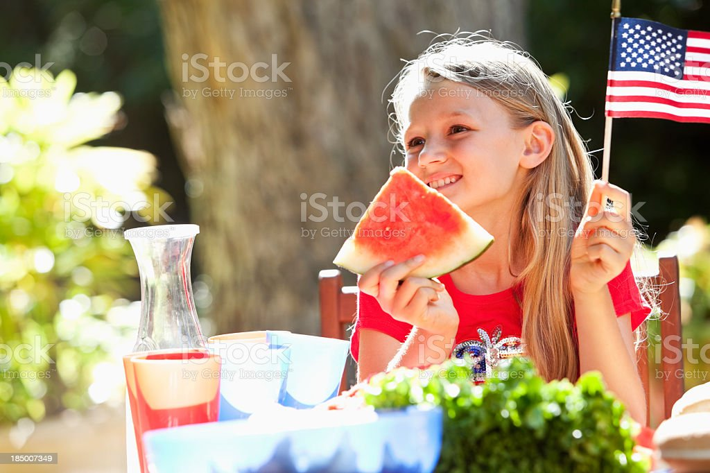 Fourth of July or Memorial Day picnic stock photo