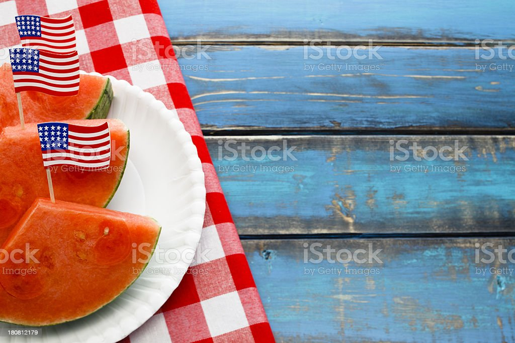 Fourth of July Picnic royalty-free stock photo