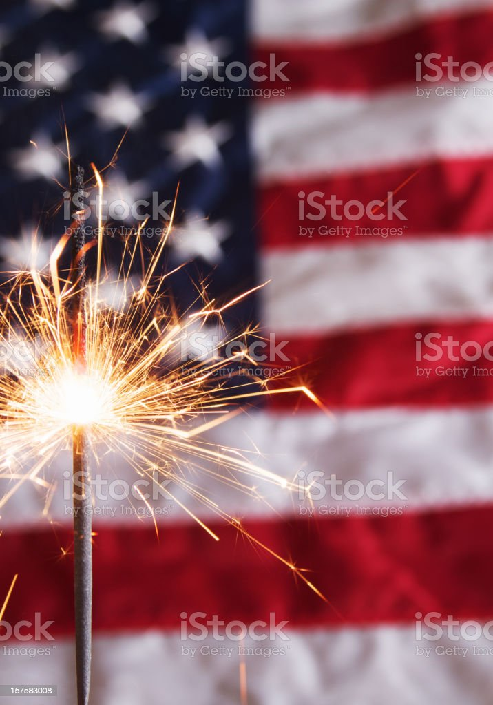Fourth of July Sparkler royalty-free stock photo