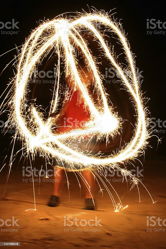 Fourth of July Sparklers stock photo