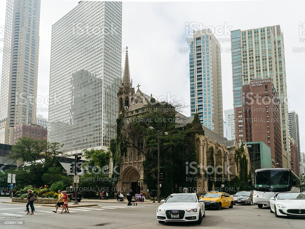 Fourth Presbyterian Church in Chicago stock photo