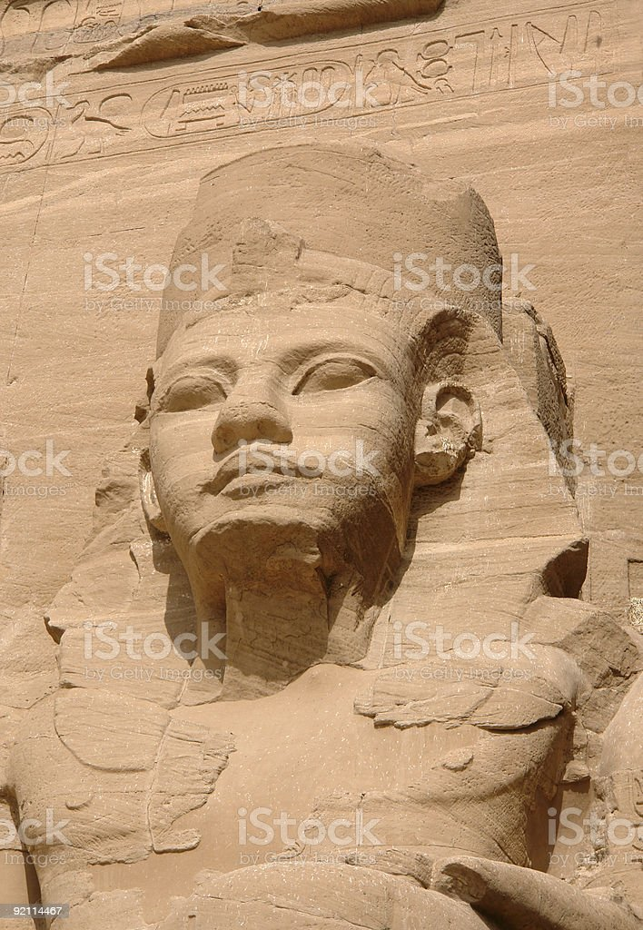Fourth Ramses statue stock photo