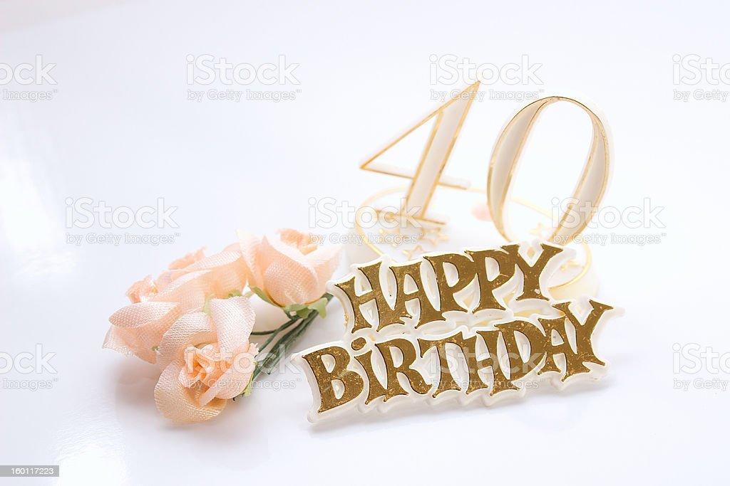 fourtieth birthday royalty-free stock photo