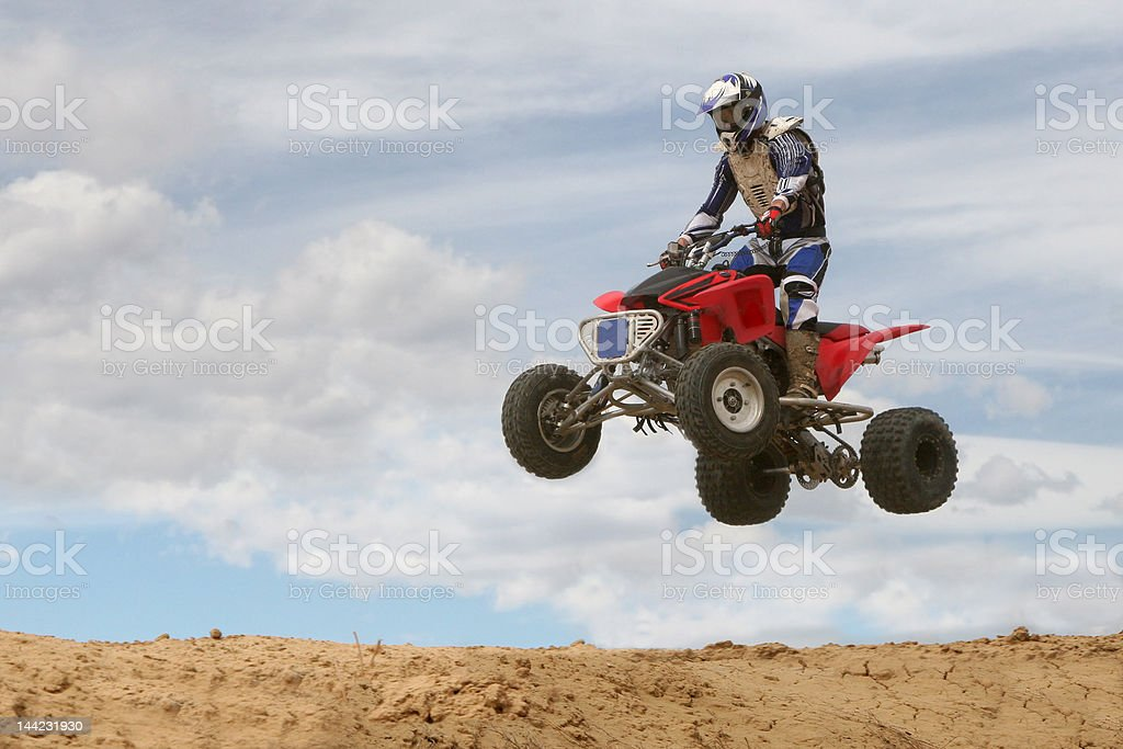 Four-Wheeler Jumping stock photo